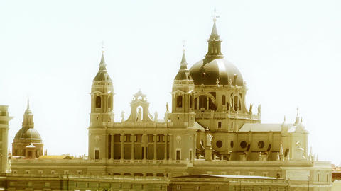 Madrid Santa Maria Almudena 13 stylized Stock Video Footage