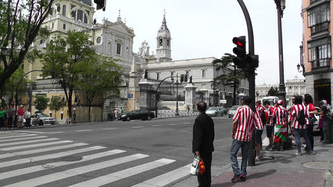 Madrid Santa Maria Almudena Calle De Bailen and Calle... Stock Video Footage