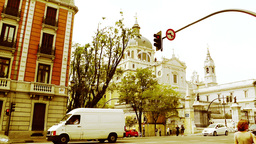 Madrid Santa Maria Almudena Calle De Bailen and Calle Mayor 03 Footage
