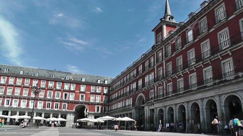Plaza Mayor De Madrid 02 Stock Video Footage