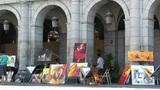 Plaza Mayor De Madrid 04 artist painter Footage