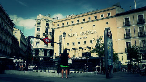 Real Cinema Madrid stylized Stock Video Footage