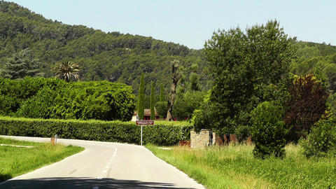 Road in Rural Catalonia Spain Stock Video Footage