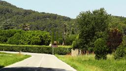 Road in Rural Catalonia Spain Footage