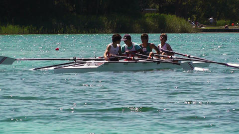 Rowing on Lake 02 Footage