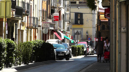 Small Town Street in Spain 03 Catalonia Footage