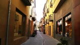 Small Town Street in Spain 07 Catalonia Footage