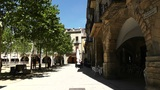 Square in Small Town in Spain 01 Catalonia Footage