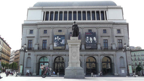 Teatro Real Madrid 01 Stock Video Footage