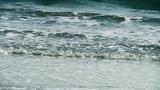 nice waves on sandy beach,white surge Footage