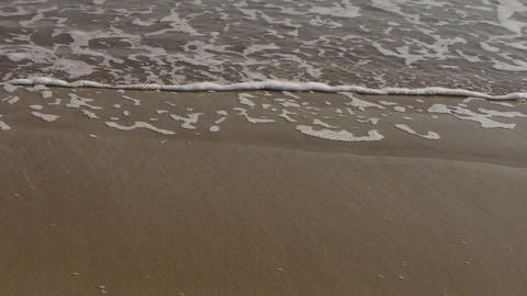 nice waves on sandy beach,white surge Stock Video Footage