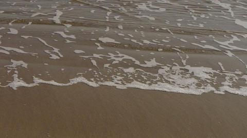 nice waves on sandy beach,white surge Stock Video Footage