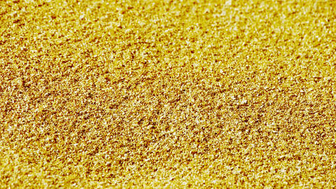 golden sand,wind blow sand particles on beach Stock Video Footage