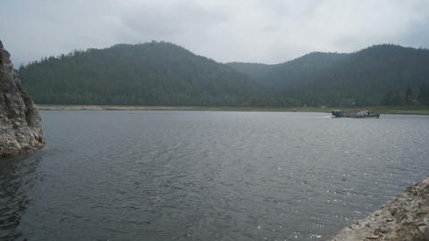Krasnoyarsk Reservoir Biryusa Bay Stock Video Footage