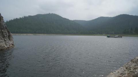 Krasnoyarsk Reservoir Biryusa Bay Stock Video Footage