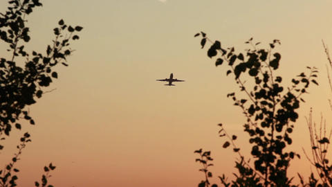 flight of the aircraft Stock Video Footage