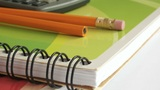 School And Office Supplies Dolly Shot stock footage