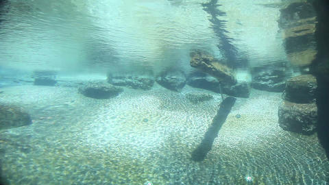 Underwater with sun beams Stock Video Footage