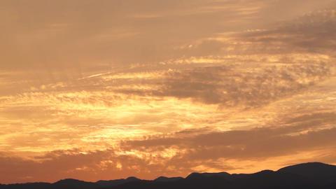 the setting sun 夕日 Stock Video Footage