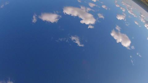 Glider Performs Aerobatic Maneuvers Stock Video Footage