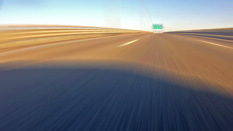 Fast Driving on the Highway Stock Video Footage