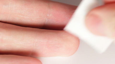 Sequence: Lancet for finger pricking Stock Video Footage