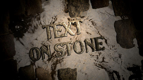 Text on paving stone After Effects Template