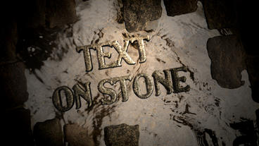 Text on paving stone After Effects Project