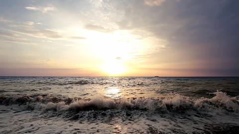 Sea sunset Footage