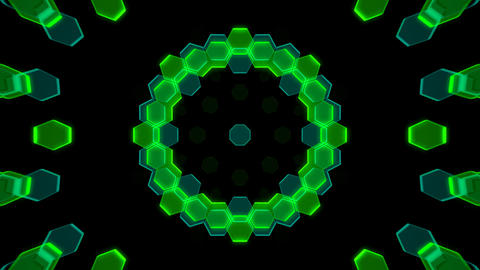 Kaleidoscope Hex 2 Cb 2 HD Stock Video Footage