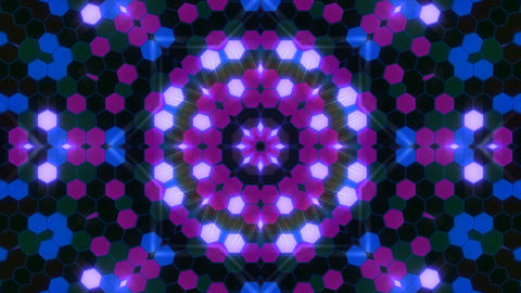 Kaleidoscope Hex 3 Aa 2 F HD Stock Video Footage