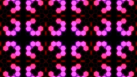 Kaleidoscope Hex 3 Aa 4 HD Stock Video Footage