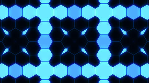 Kaleidoscope Hex 3 Ba 1 HD Stock Video Footage