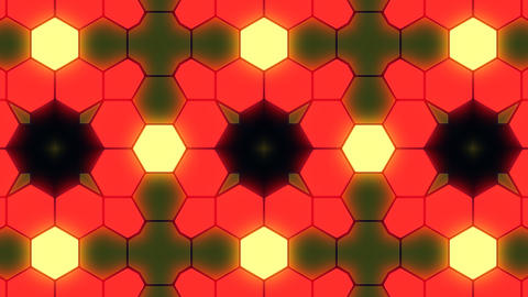 Kaleidoscope Hex 3 Ba 3 HD Stock Video Footage