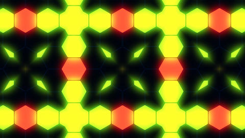 Kaleidoscope Hex 3 Ba 3 HD Stock Video Footage