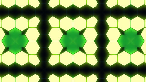 Kaleidoscope Hex 3 Bb 3 HD Stock Video Footage