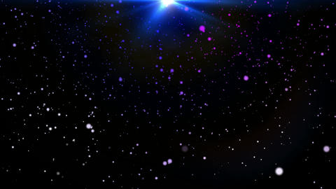 Magical 3D snowfall Stock Video Footage