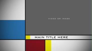Mondrian Theme Template After Effects Template