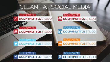 Flat Social Media Lower Thirds After Effects Templates