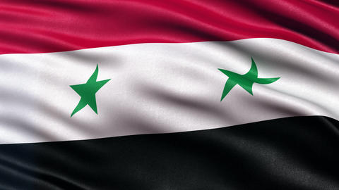 4K Syria flag seamless loop Ultra-HD Animation