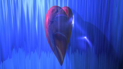 Reflective Heart Background Animation
