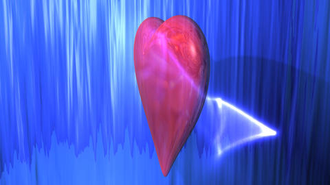 Reflective Heart Background Stock Video Footage