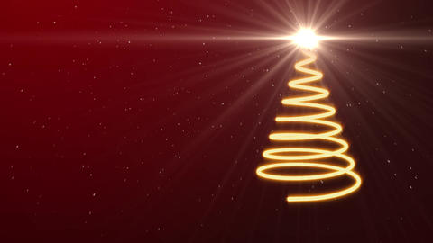3 D Glow Christmas Tree Animation