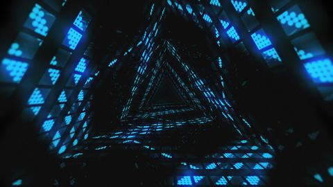VJ Loops Color Triangular Tunnels