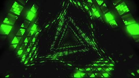 VJ Loops Color Triangular Tunnels 0