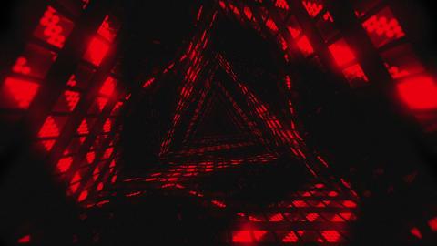 VJ Loops Color Triangular Tunnels 1
