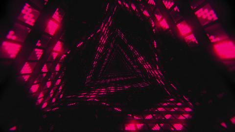 VJ Loops Color Triangular Tunnels 2