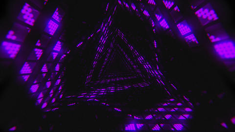 VJ Loop Violet Tunnel Animation
