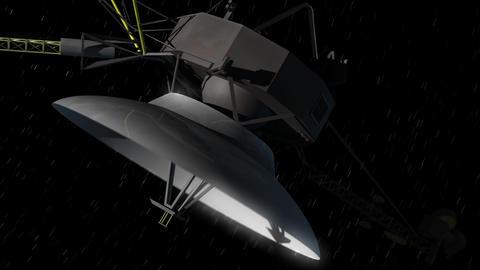 Deep Space Probe CG動画素材
