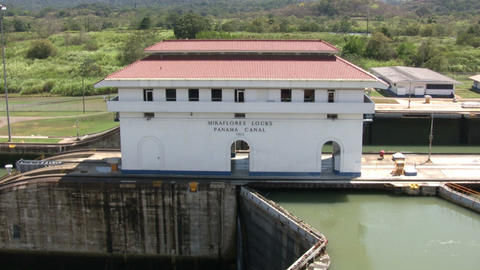 Miraflores Locks at Panama Canal Footage